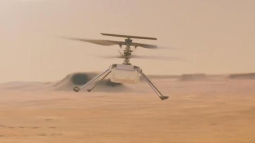 ¡Y voló el Ingenuity! El helicóptero de la NASA vuela sobre Marte