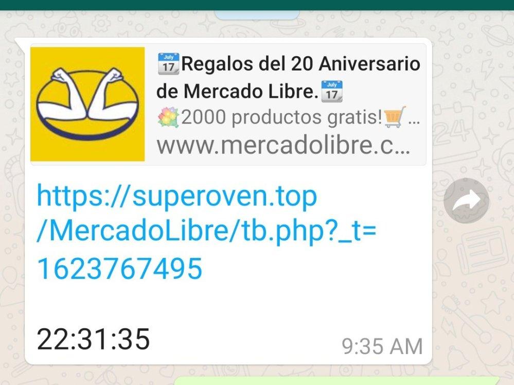 No, Mercado Libre no está dando regalos, es una estafa en WhatsApp ¡No lo reenvíes!