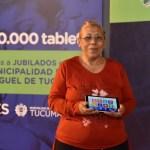Capacitación sobre el uso de tablets en Villa 9 de Julio