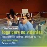 Esta semana comienza un taller gratuito de yoga para no videntes en la Casa de la Ciudad