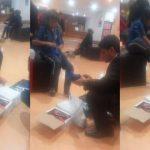Pedía monedas descalzo en Peatonal Muñecas y un joven lo llevó a comprar zapatillas