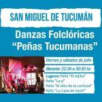 Viernes y Sábados de Julio – Peñas Tucumanas