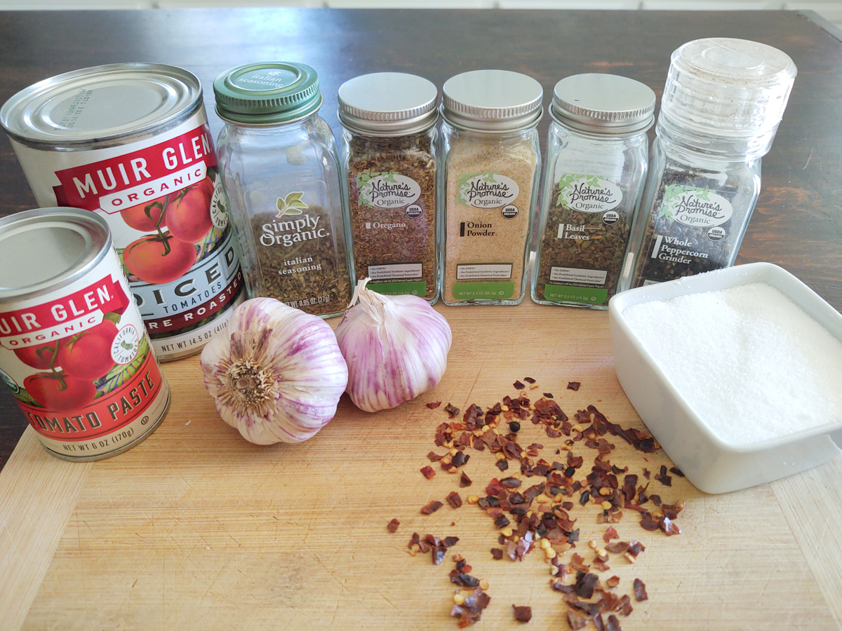 ingredients for 5 minute pizza sauce