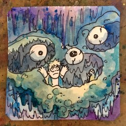 Generated by Guts Eyeballs in underground caves in Ashe for PC98 @Macaw45