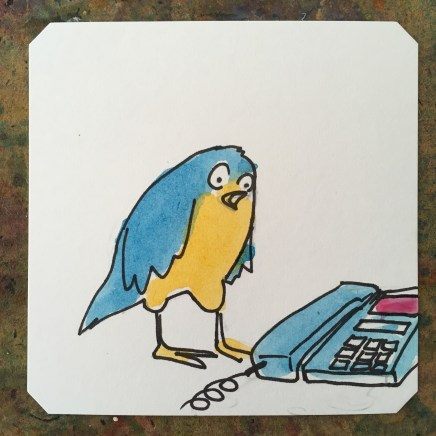 Waiting by the phone in Super Keirin @Macaw45