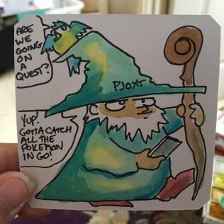 Wizard runs in Dungeon Explorer 2