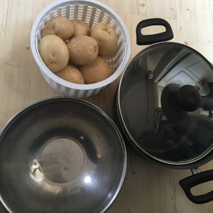 Prep all the potatoes