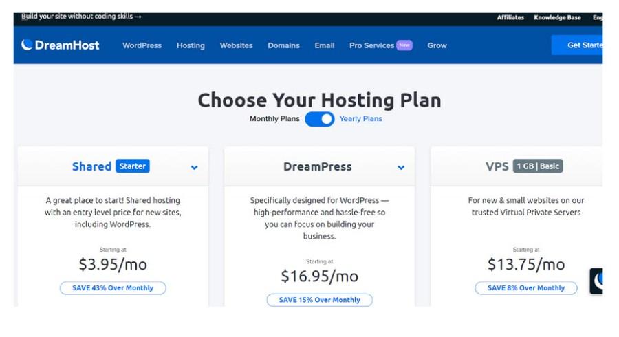 DHHostingPlans - DreamHost Web Hosting Review