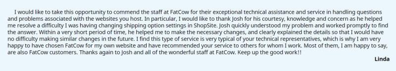 FatcowTestimonial7 300x54 - FatCow Hosting Review