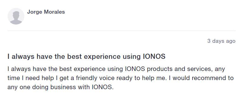 IonosTestimonial1 - IONOS Hosting Review