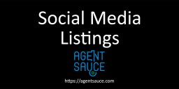 Real Estate Listings Social Media Poster