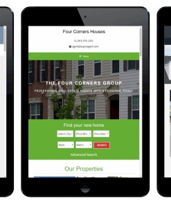 FOUNDATION Real Estate Website with CRM in tablet view