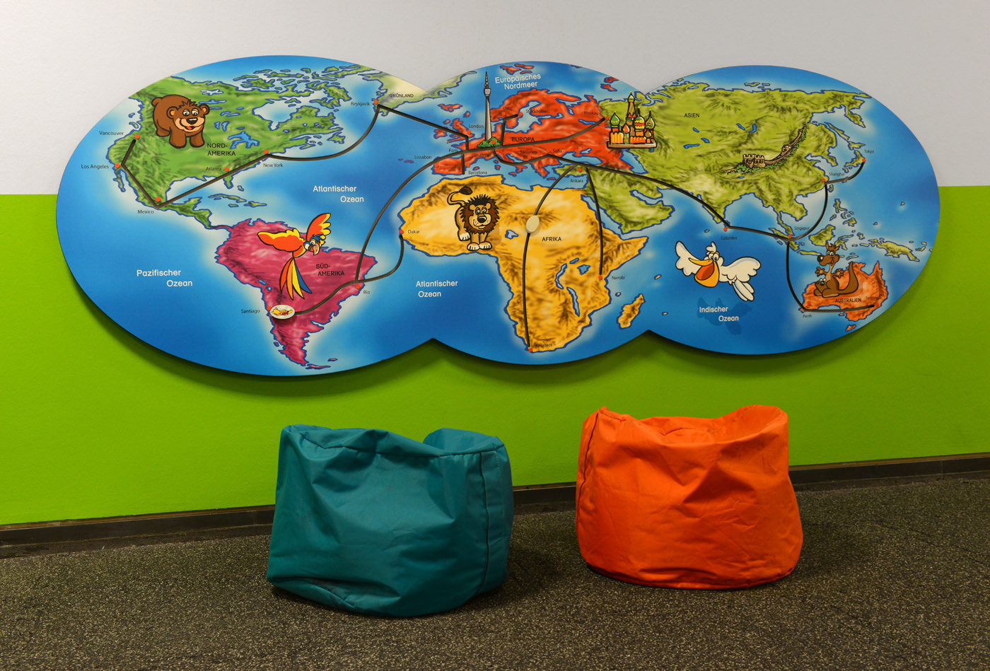 Kinderspielbereiche - Spielecke für Handel und Shoppingcenter - Flughafen Stuttgart