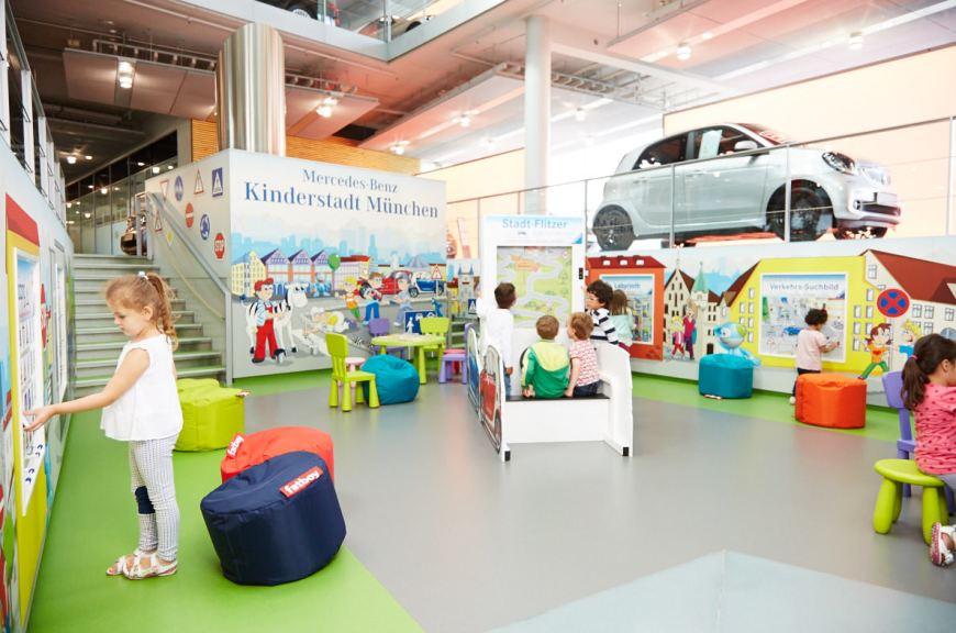 Markenerlebniswelten - Spielecke für Handel und Shoppingcenter - Mercedes-Benz Kinderstadt - Agentur Ravensburger