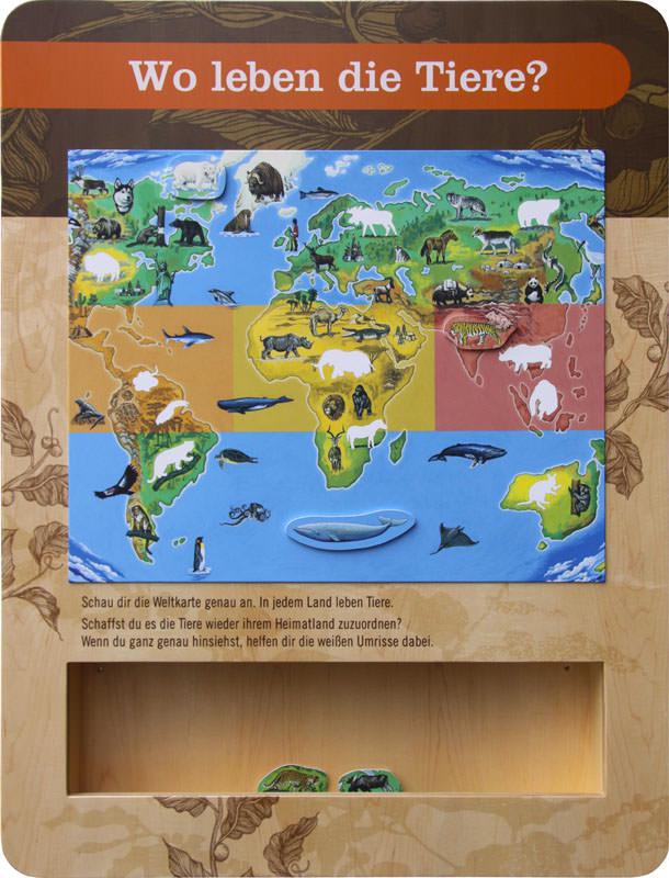 Kinderspielbereiche, Spielecke für Handel und Shoppingcenter, Spielecke im Wartebereich, Starbucks, memo, Puzzle, Holzpuzzle, Tiermotive, Agentur Ravensburger