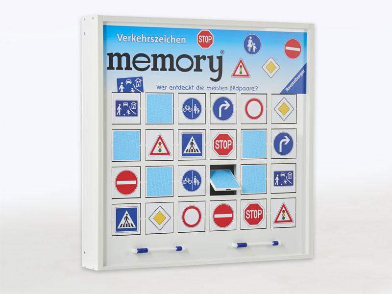 Ravensburger Spielelement, Verkehrszeichen memory®, Verkehrszeichen, Straßenverkehr, Schilder, Lernen, Kinder, Großspiel, Wandspiel, Wandelement, Wartezimmer