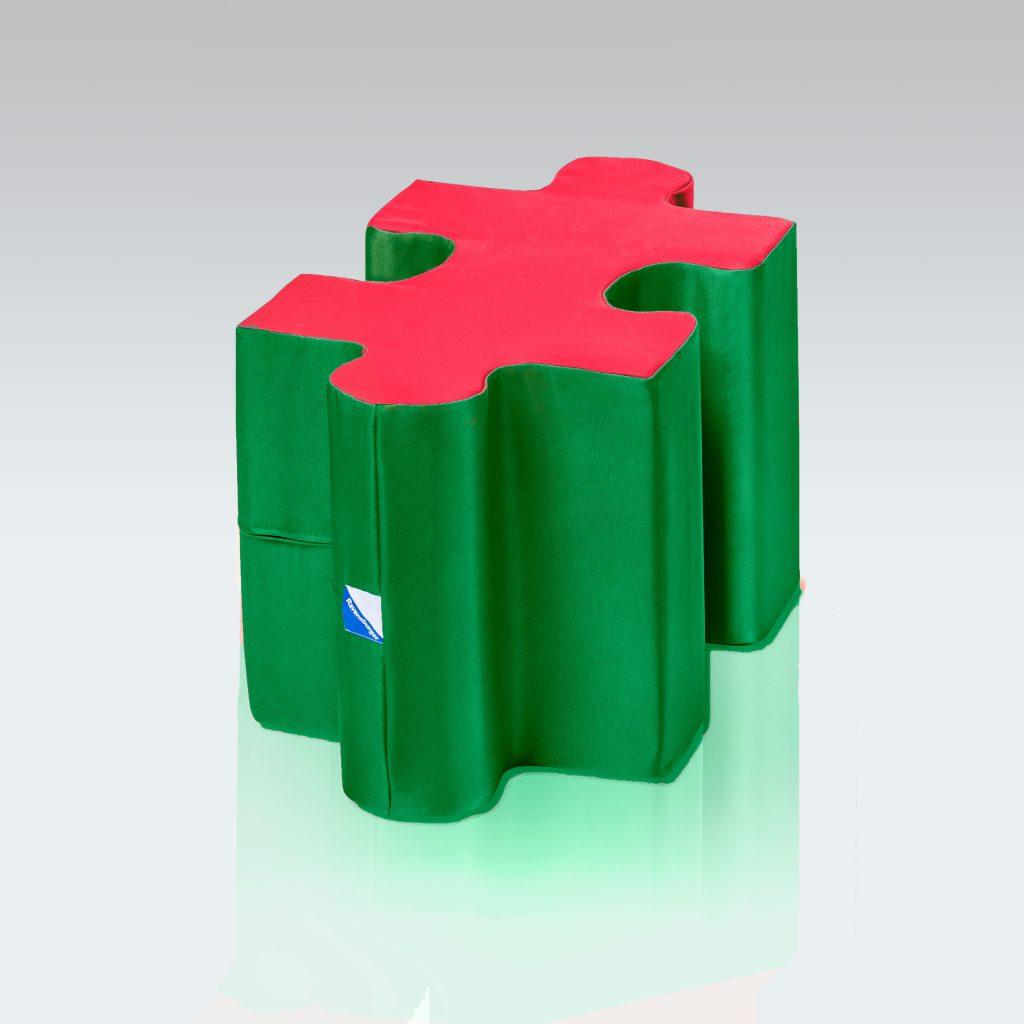Ravensburger, Spielelement, Puzzle Hocker, Übersicht, stabil, bunt, Puzzleteile, Schaumstoff, Kinderzimmer, Spielecke, rot, grün