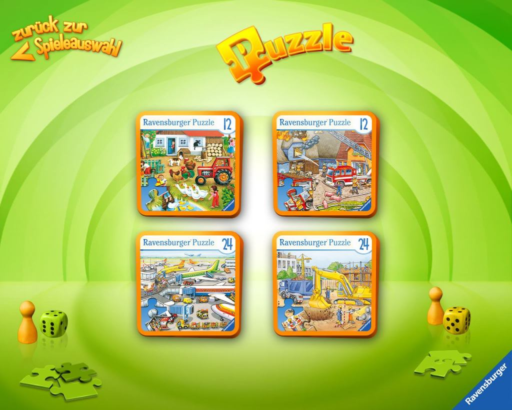 Übersicht der Kinder-Apps, Ravensburger, Kinder Touch Computer, Puzzle