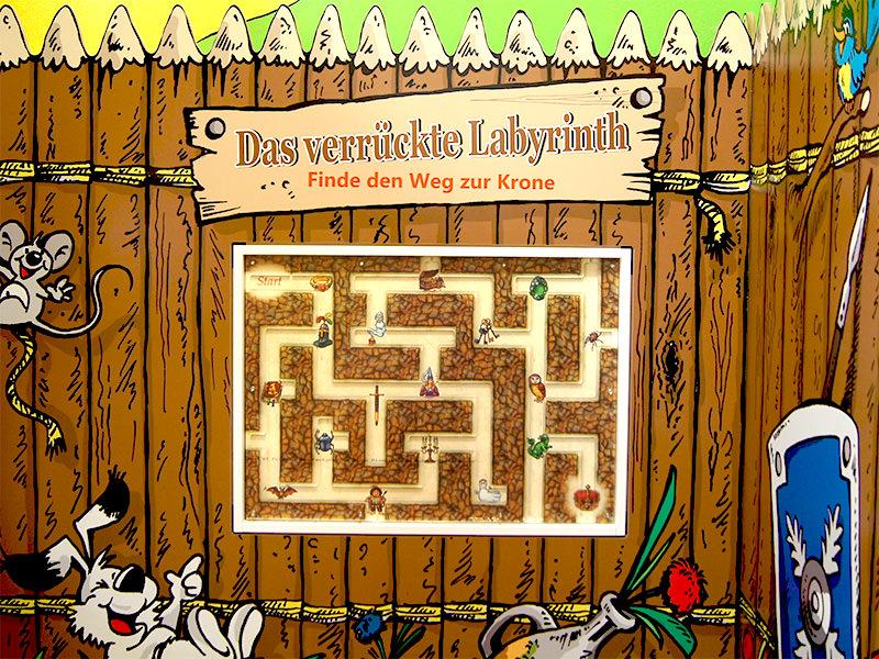 Ravensburger, Labyrinth, individuell, Wandspiel, Spielelement, verrücktes Labyrinth