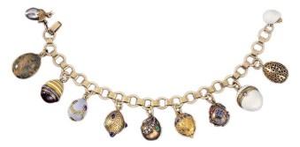 Armband mit elf Miniatureiern, Fabergé © Liechtensteinisches Landesmuseum, Sven Beham