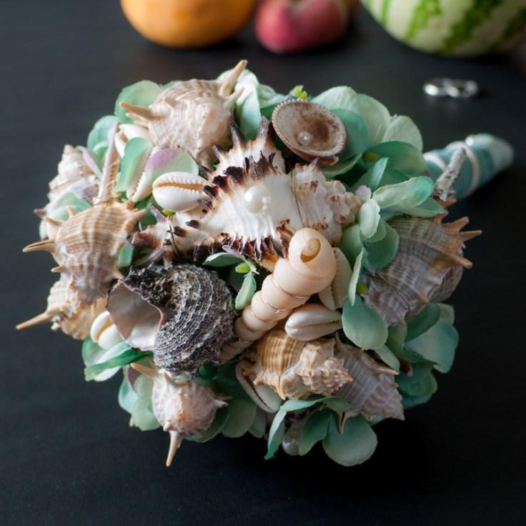 Brautstrauss strandhochzeit Bouquet Blue Mermaid