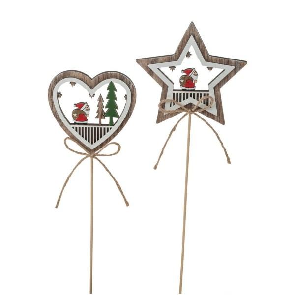 Decoraţiuni inimă şi stea de Crăciun