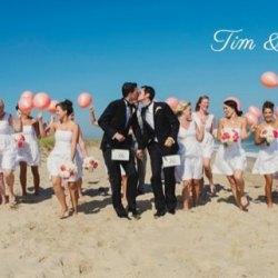 同志婚礼:Tim & James 幸福无限的海滩婚礼