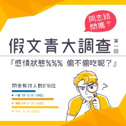 假文青调查室:同志的感情状态中  你偷不偷吃呢?