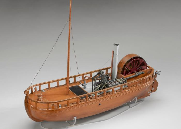 A small model of a steam ship used on the Clyde and Forth Canal