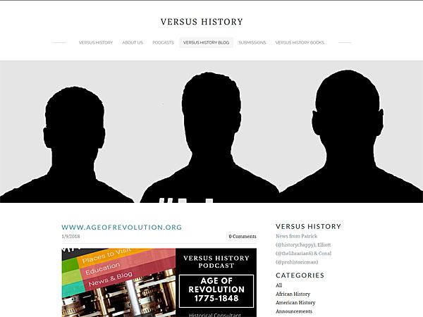 verses history website screenshot