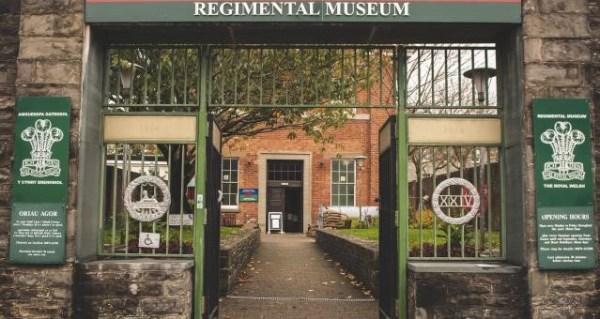 entrance to Royal Welsh Regimental Museum