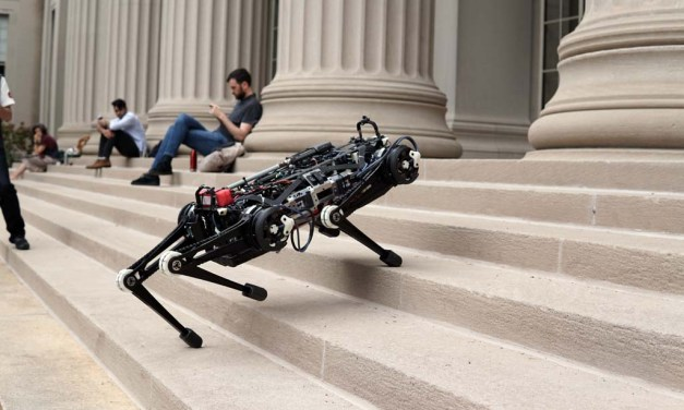 """""""Blind"""" Cheetah 3 robot can climb stairs littered with obstacles"""