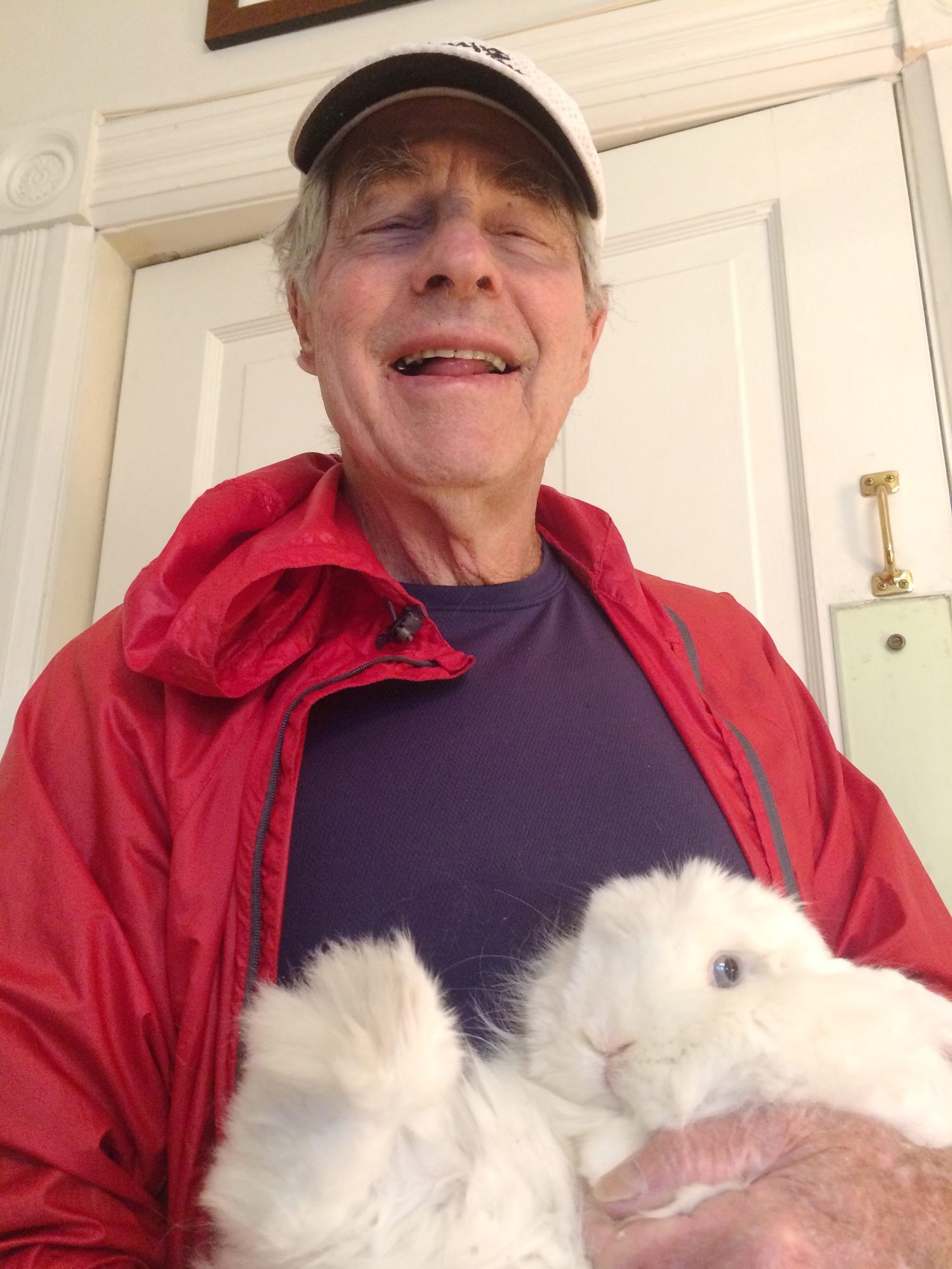 Bob McAndrews and rabbit