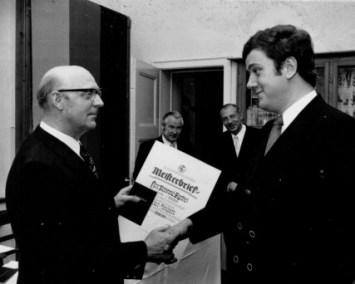 Reinhold Agethen Meisterbrief