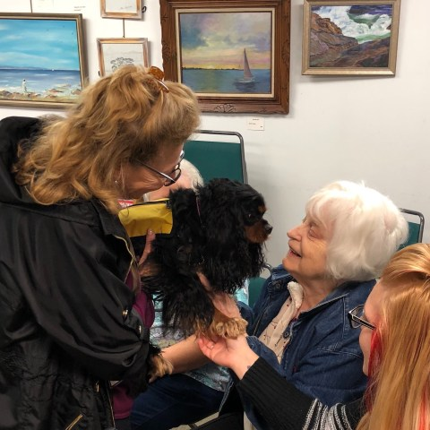 Elmwood Hall Danbury Senior Center-Dog Therapy