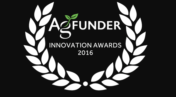 AgFunder Innovation Awards 2016 Winners Announced