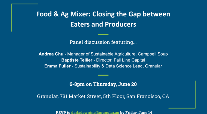 Food & Ag Mixer:  Closing the Gap between Eaters and Producers