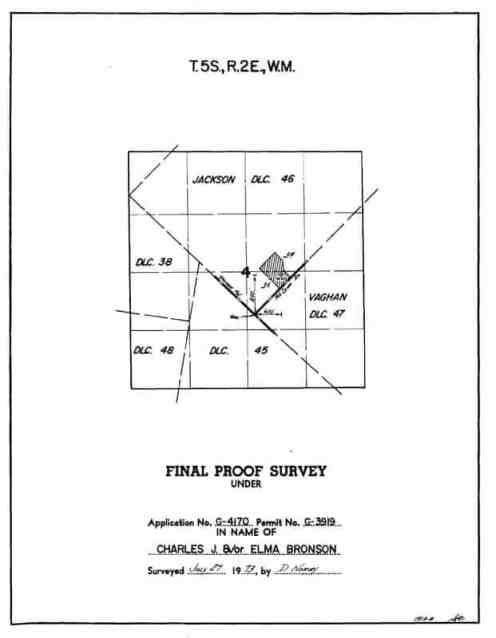 Land Details example for Water Rights Certificate Map