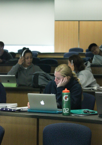 Utah State athletes can focus on homework in a provided study hall room.