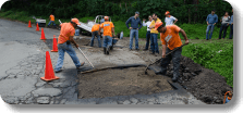 AggreBind soil stabilization for pothole repairs