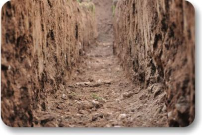AggreBind stabilized soil ditch