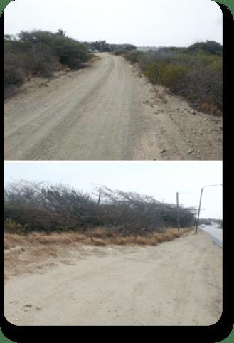 AggreBind road designs Aruba Road with Caliche base