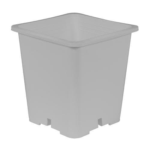 Premium Square White Plastic Pots