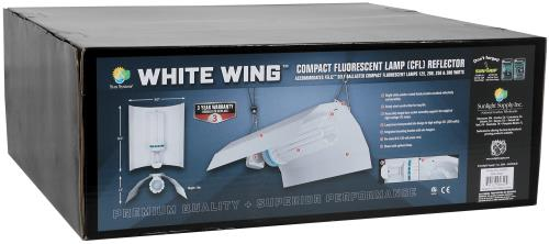 White Wing Fluorescent Reflector