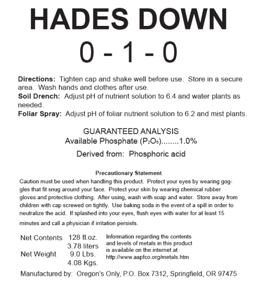 Hades Down pH Adjuster