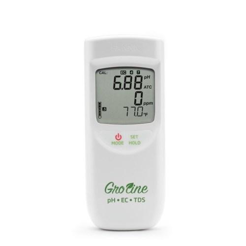 GroLine Waterproof Portable Hydroponics pH/EC/TDS Meter