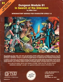 #Blaugust Day 31: Mystara Monday: Module B1 - In Search of the Unknown