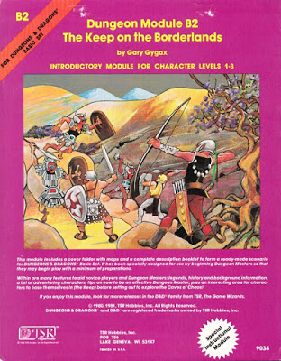 Mystara Monday: Module B2 - The Keep on the Borderlands