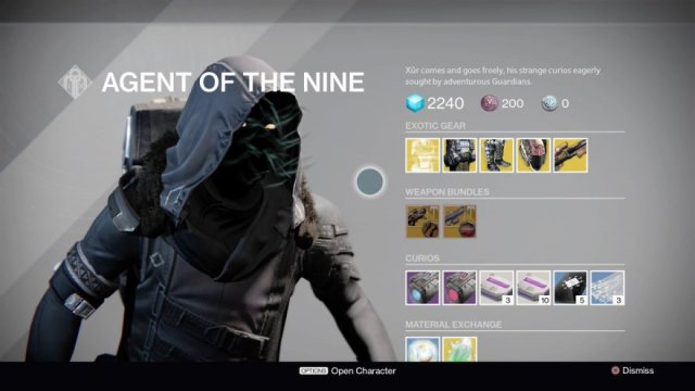 Xur Week Ten: 11/17/17