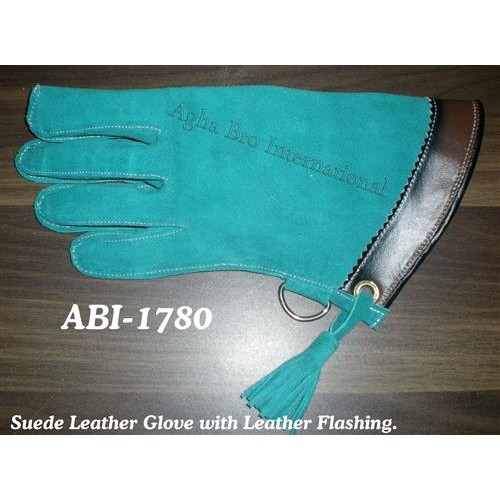 Suede Leather Glove with Flashing (ABI-1780)